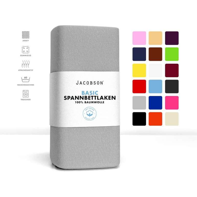 Jacobsen Jersey Spannbettlaken (100% Baumwolle) in verschied. Größen ab 5,99€ inkl. Versand (statt 8€)
