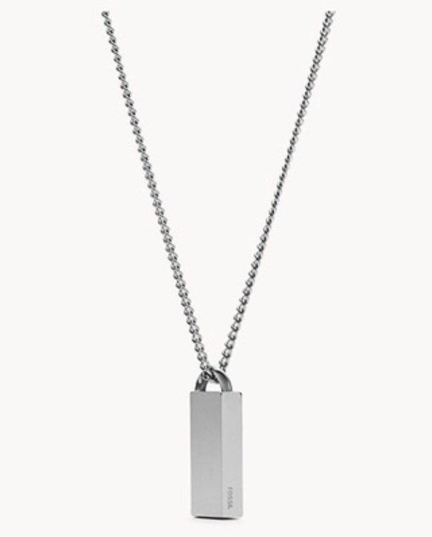 """Fossil JOF00659040 - Herren Halskette """"Dog Tag"""" für 24,60€ inkl. Versand (statt 41€)"""