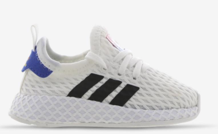 adidas Deerupt Baby Schuhe in Weiß/Blau für 39,99€inkl. Versand (statt 45€)
