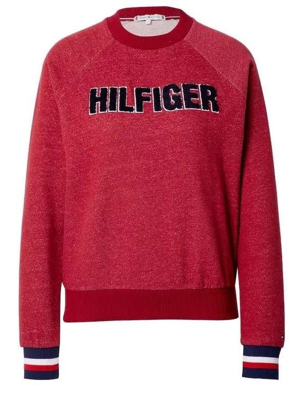 Tommy Hilfiger Sweatshirt mit Fleece-Logo in dunkelrot für 25,96€ inkl. Versand (statt 39€)
