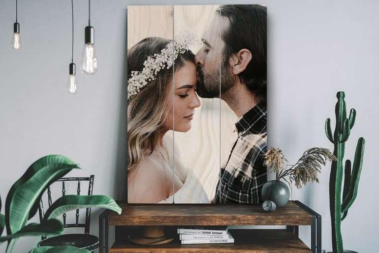 Lieblingsfoto: Foto auf Holz mit -78% Rabatt - z.B 60 x 40 cm für 20,84€ inkl. Versand