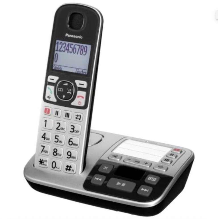 Panasonic KX-TGE520GS – Schnurloses DECT Telefon mit Anrufbeantworter für 49,90€