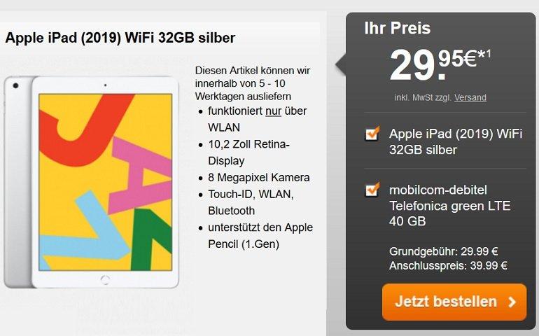 mobilcom-debitel o2 green Allnet-Flat 40GB LTE