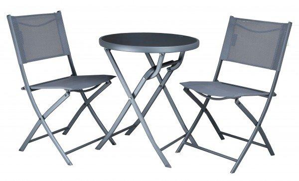 Westfield Balkonset in Anthrazit (2 x Stuhl, Tisch Ø 60 cm) für 55€ inkl. Versand (statt 80€)