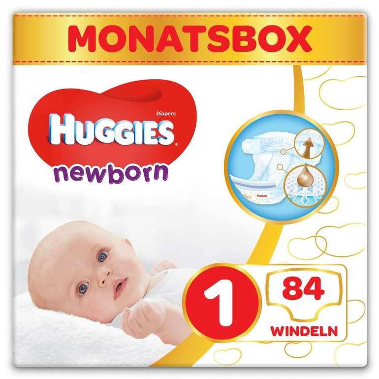 Huggies Windeln Newborn Baby Größe 1 (84 Stück) für 15,17€ inkl. Versand (statt 18€)
