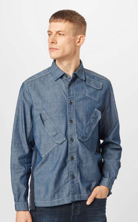G-Star RAW Hemd in blue denim für 43,60€ inkl. Versand (statt 55€)