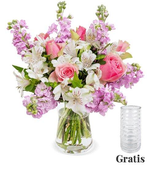 Blumenstrauß Blütenmeer mit XXL Blütenpracht für 30,98€ + Gratis Vase (statt 34€)