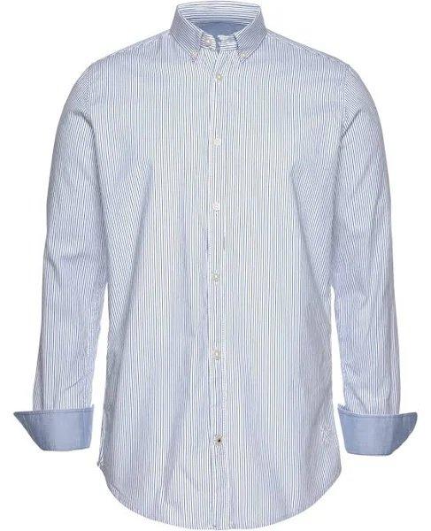 Tom Tailor Hemd 'floyd fine basic' in weiß/blau für 20,32€ inkl. Versand (statt 28€)