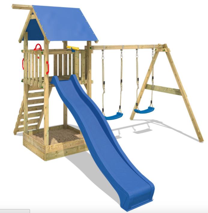 WICKEY Smart Empire Spielturm – mit Rutsche und Schaukel für 379,95€