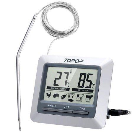 Topop Fleischthermometer mit LCD-Display für 8,99€ inkl. Versand (Prime)