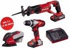 Einhell 18V Power-X-Change Set (Akkuschrauber, Säbelsäge, Schleifer) für 119,99€