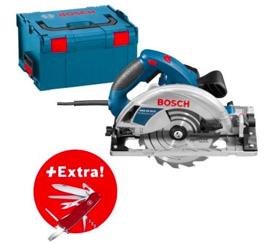 Bosch GKS 65 GCE Handkreissäge + L-Boxx & Gratis Messer für 199,99€ (statt 245€)