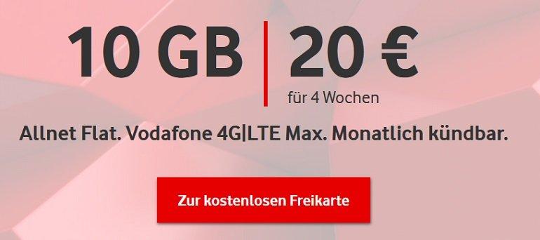 Vodafone CallYa Digital Allnet mit 10GB LTE