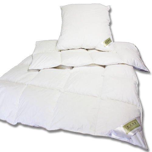 Daunen und Federn Bettenset Decke 135x200cm + 80x80cm Kissen für 40,45€
