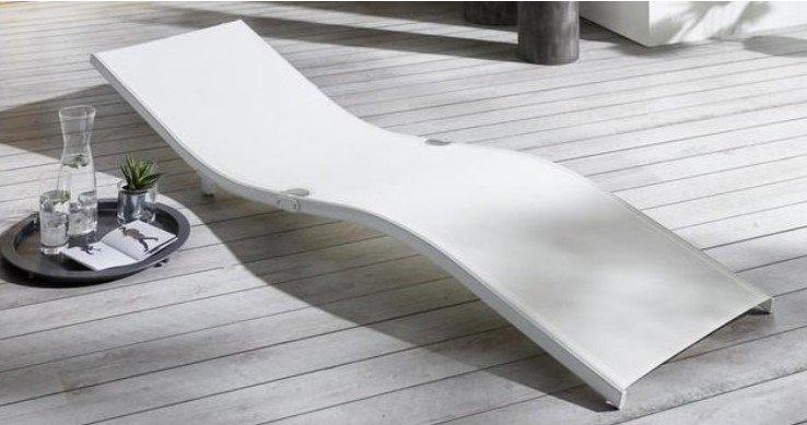 Bessagi Garden Gartenliege Jada in weiß für 18,75€ inkl. Versand