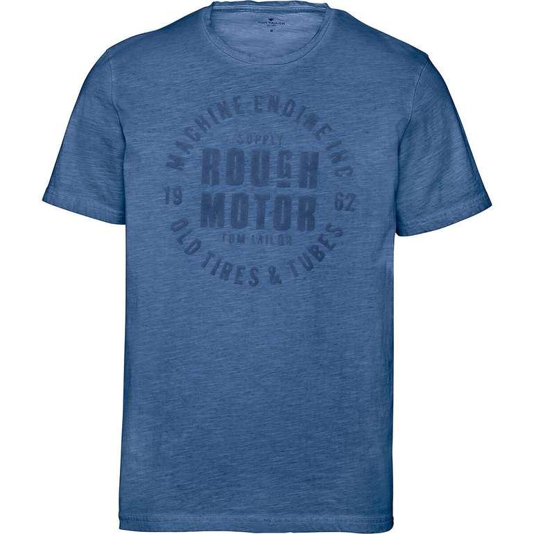 Tom Tailor Herren T-Shirt mit Print & Rundhalsausschnitt für 12,94€ (statt 15€)