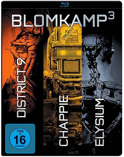 Chappie + District 9 + Elysium (Steelbook, Blu-Ray) für 7,99€ bei Marktabholung