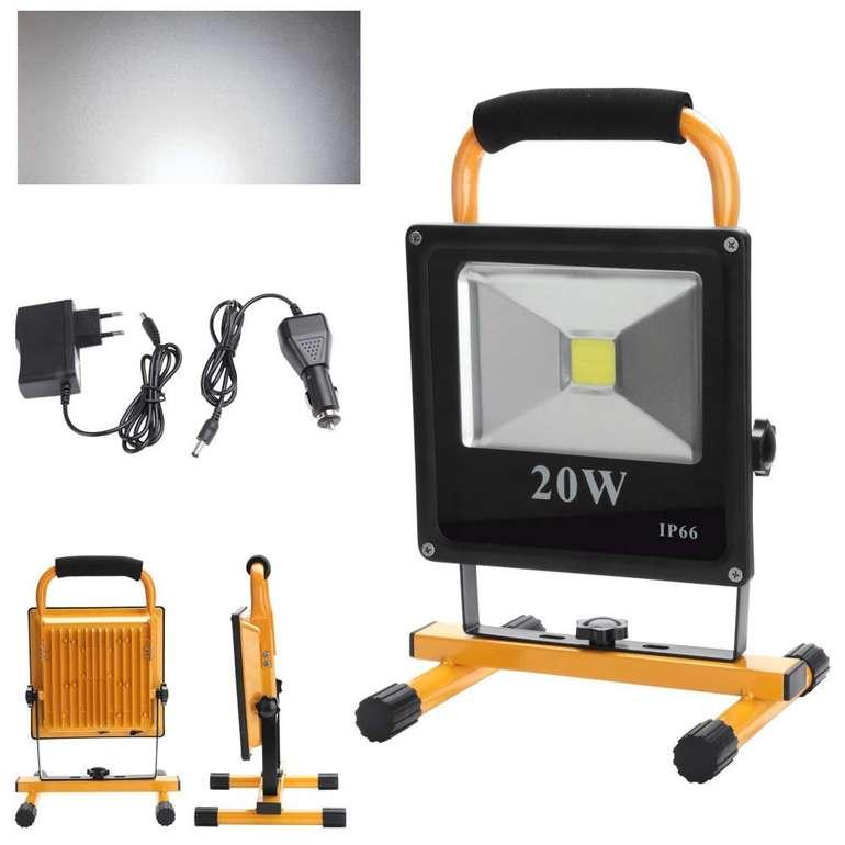 Verschiedene Hengda kaltweiße LED Akku Strahler reduziert, z.B. 20W für 15,59€
