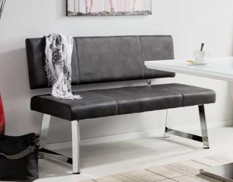 Modern Living Sitzbank in Grau mit Chromgestell für 165,47€ inkl. Versand (statt 215€)