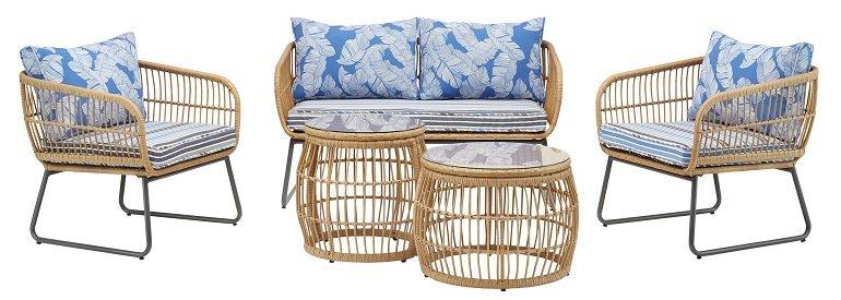 Bessagi Garden Loungegarnitur 'Lorella' aus Polyrattan