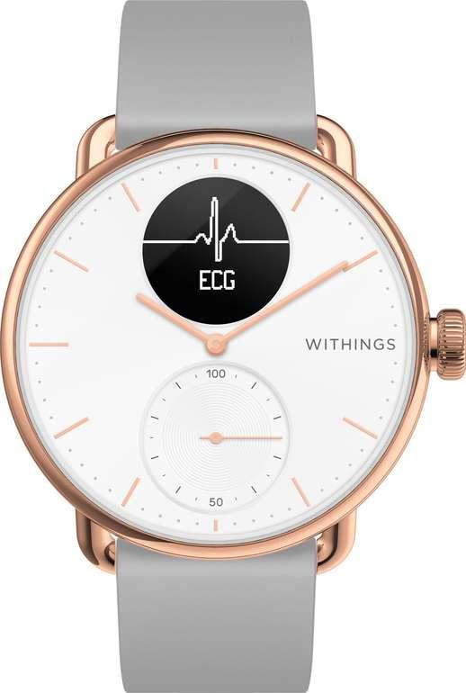 Withings ScanWatch - 38mm Hybrid Smartwatch (EKG, Herzfrequenzsensor, Oximeter) für 212,00€ inkl. Versand (statt 264€)