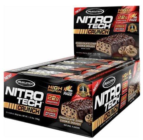 12er Pack NitroTech Crunch Bar Proteinriegel für 13,40€ (statt 31€) - MHD-Ware!