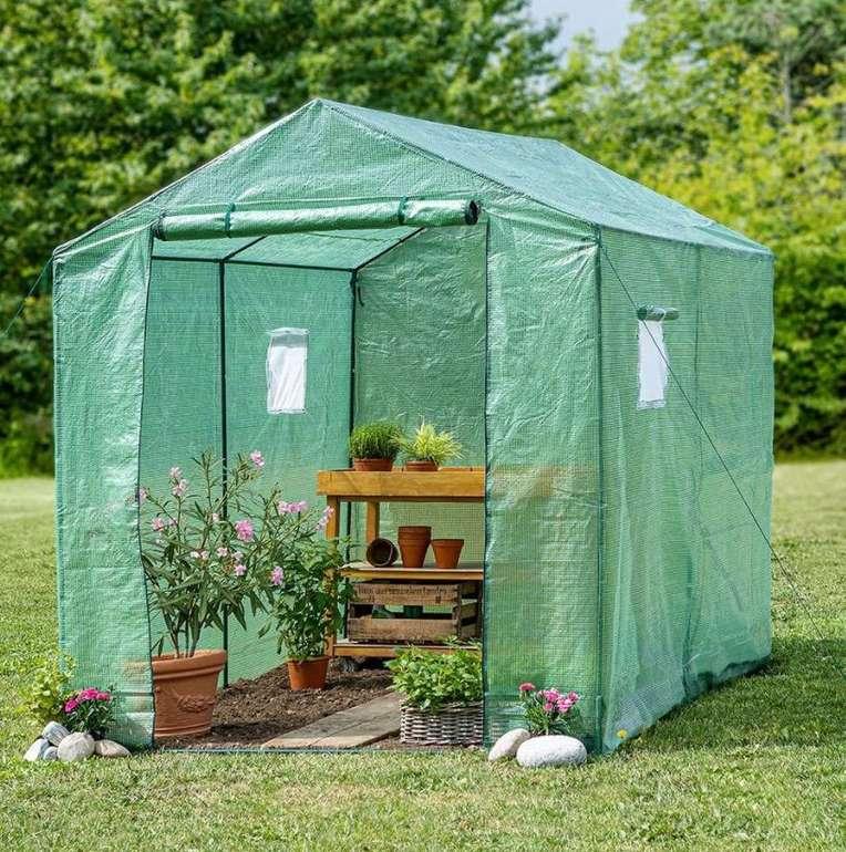 Powertec Garden Foliengewächshaus (ca. 180 x 250 x 220 cm) für 39,94€ inkl. Versand (statt 80€)