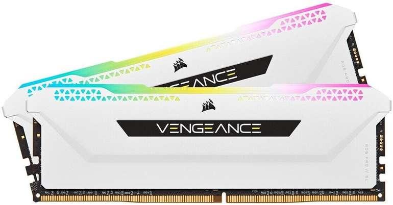 Corsair DIMM 32 GB DDR4-3600 Kit (CMH32GX4M2D3600C18W, Vengeance RGB PRO SL) für 161,89€ (statt 197€)