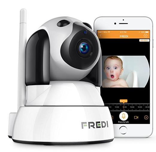 FREDI 720P HD WLAN IP Sicherheitskamera mit Bewegungsmelder für 21,59€