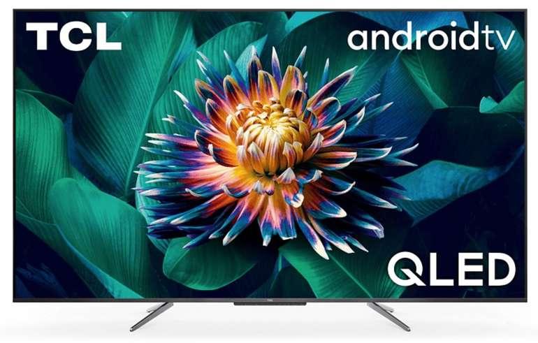 TCL 65 C 715 QLED TV (Flat, 65 Zoll, 165 cm, QLED 4K, SMART TV, AndroidTV 9.0) für 889,89€ (statt 1.091€)
