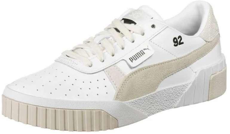 Puma Sneaker 'Cali Lthr Suede x SG' Selena Gomez in camel / weiß für 53,52€ inkl. Versand (statt 67€)