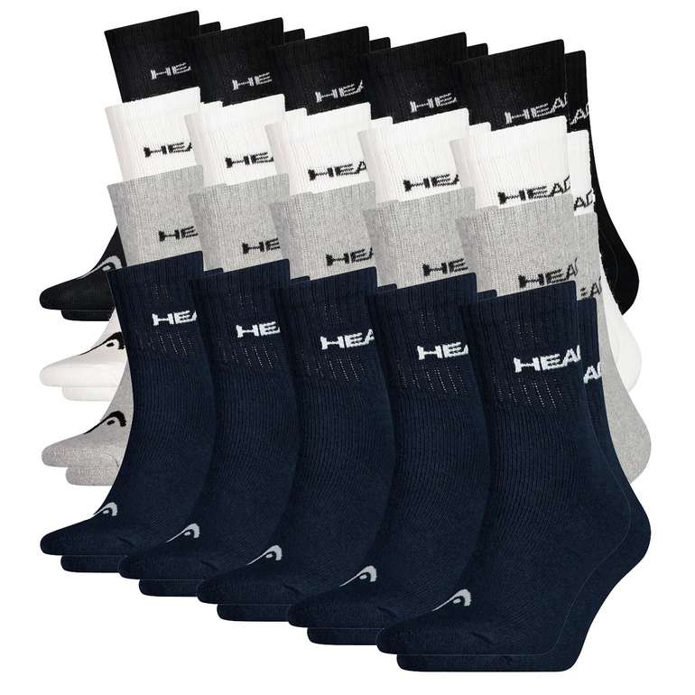 30er Pack Head Short Crew Unisex Socken für 32,95€ inkl. Versand (statt 50€)