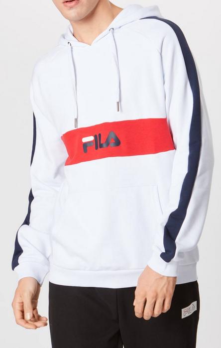 Fila Herren Sweatshirt 'JEREMY' in weiß für 32,32€ inkl. Versand (statt 50€)