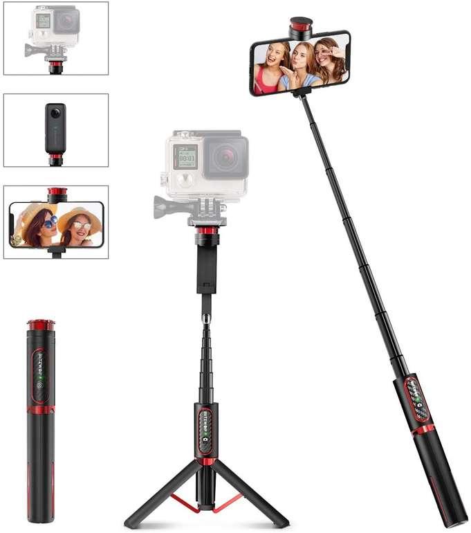 BlitzWolf BS10 Bluetooth Selfie Stick mit Stativ für 18,89€ inkl. Prime Versand (statt 27€)