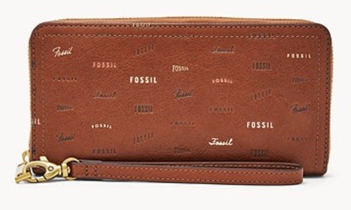 Fossil Damen Geldbörse Logan RFID Zip Around Clutch für 36€ inkl. Versand