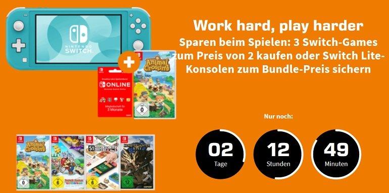 Saturn Nintendo Switch 3-für-2 Spiele Aktion