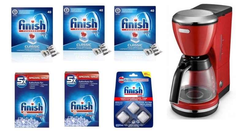 Finish Vorratspack: Tabs, Salz und Pfleger + DeLonghi Icona Kaffeemaschine für 34,99€ (statt 64€)