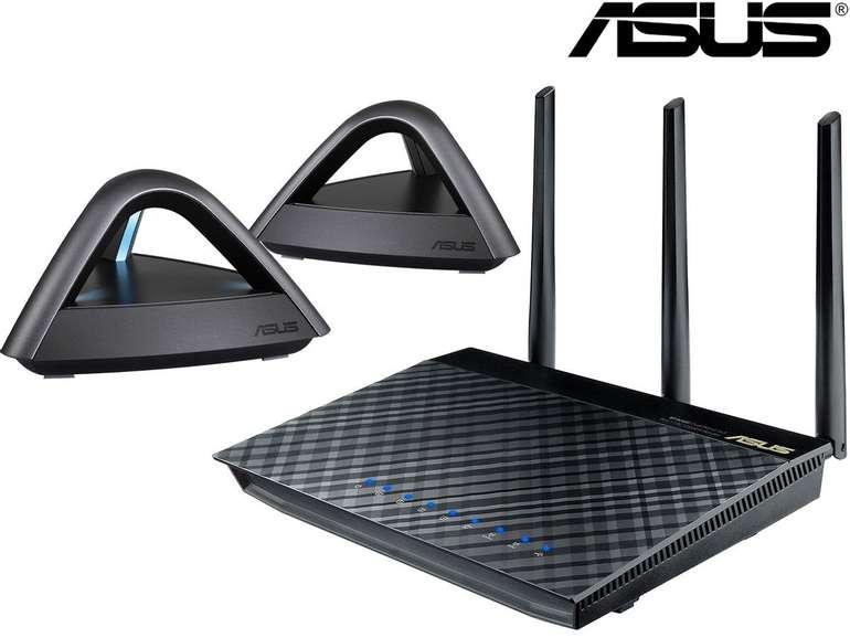 Asus AiMesh AC1750 Mesh-System (1x RT-AC66U Router + 2x Lyra Trio) für 155,90€ (statt 180€)