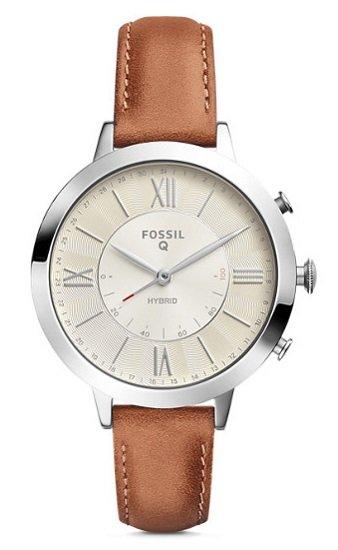 Fossil FTW5012 Jacqueline Damen Hybrid Smartwatch mit Lederarmband für 42,50€ inkl. VSK