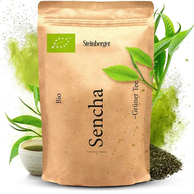 Amazon Prime Day: Steinberger Grüner Tee günstiger, z.B. 500g Sencha für 12,59€ inkl. Prime Versand