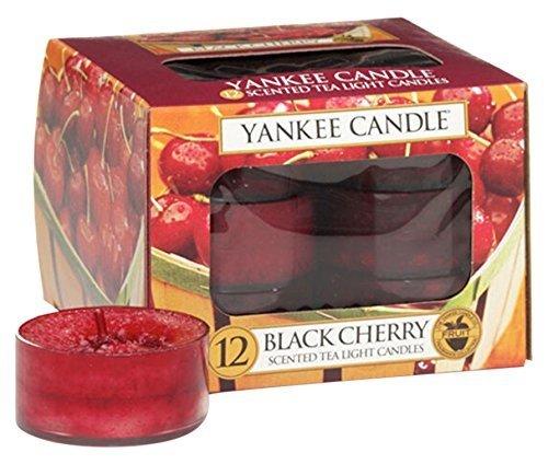 12 Pack Yankee Candle Teelichter-Kerzen Black Cherry für 2,69€ (statt 10,55€)