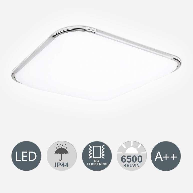 Hengda flimmerfreie LED Deckenleuchten (IP44) reduziert, z.B. 24W Weiß für 17,54€