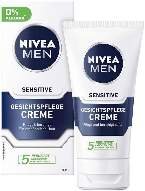 2er Pack (2 x 75 ml) Nivea Men Sensitive Gesichtspflege Creme für 5,80€ mit Prime Versand (statt 10€)
