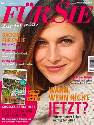 """Jahresabo """"Für Sie"""" mit 24 Ausgaben für 73€ + 75€ Bestchoice Gutschein"""