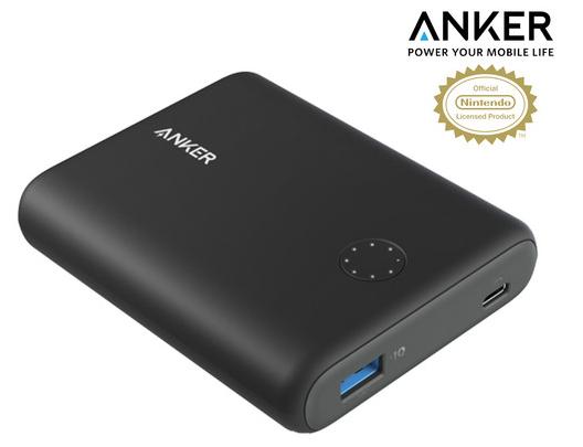 Anker PowerCore Speed 13.400 mAh Powerbank (Nintendo Switch Edition) für 28,90€ inkl. Versand (statt 68€)