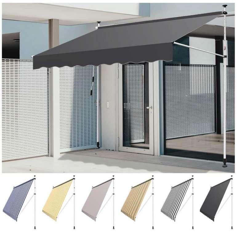 Einfeben Klemmmarkise mit Handkurbel Balkon ohne Bohren (350 x 120 cm) in verschiedenen Farben für 57,99€inkl. Versand (statt 116€)