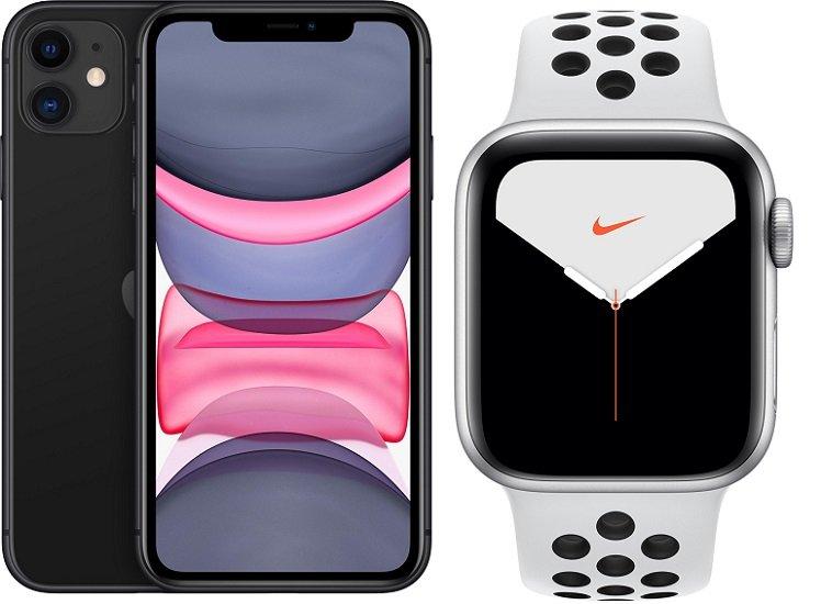 Apple iPhone 11 + Apple Watch Nike Series 5 44mm (GPS+Cellular) (149€) inkl. o2 Allnet-Flat mit 120GB LTE/5G für 44,99€ mtl.