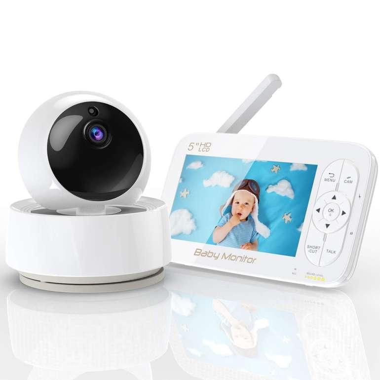 """Yundoo Babyphone mit 5"""" Monitor (720P, Nachtsicht, Temperatursensor) für 89,99€ (statt 140€)"""
