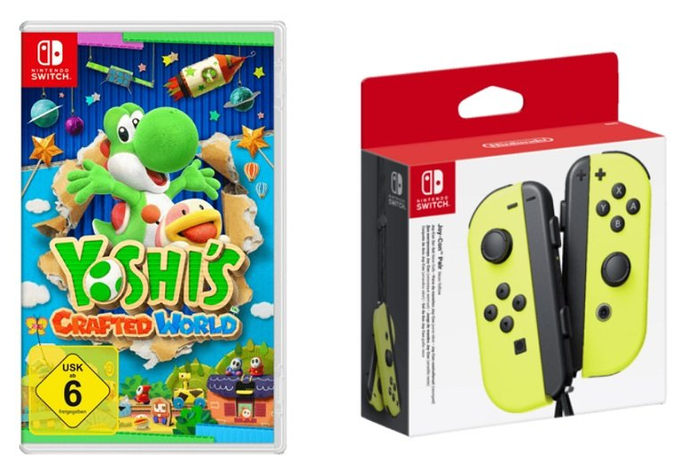 Nintendo Switch Joy-Con + Yoshis Crafted World für 89€ inkl. Versand (statt 112€)