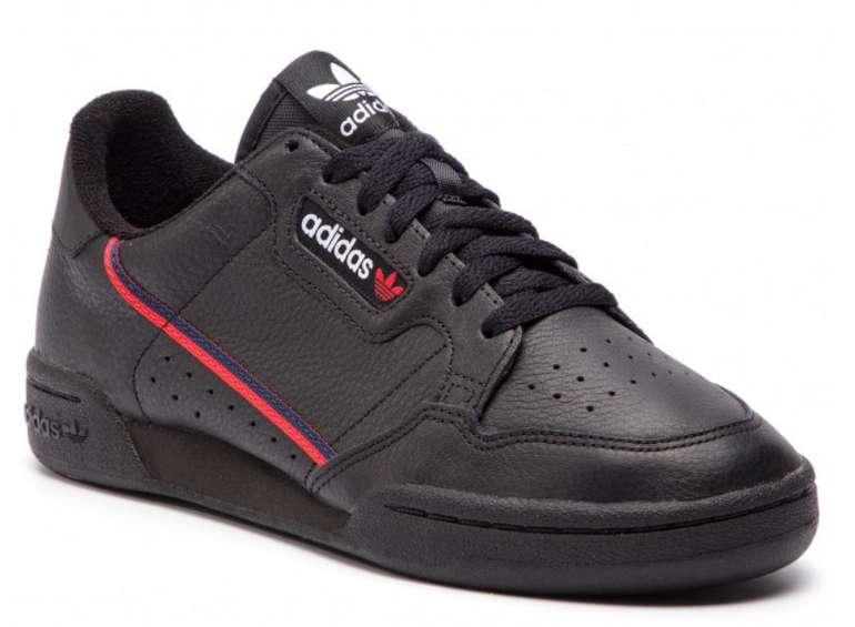 adidas Continental 80 Herren Sneaker in schwarz/rot für 62€ inkl. Versand (statt 75€)